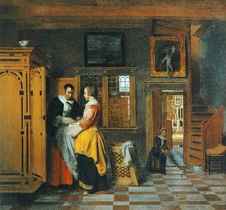 Pieter de Hooch: The Linen Chest, 1663
